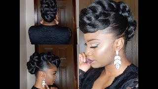 *PROTECTIVE STYLE* TWISTED FAUX HAWK UPDO
