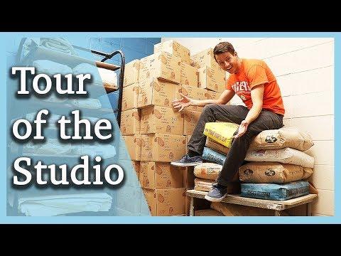 Ceramics/Pottery Studio Tour - Our Equipment, Storage, And Materials