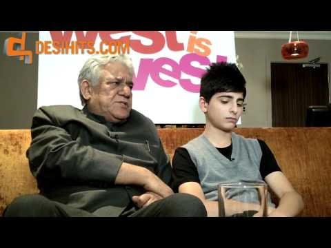 WEST IS WEST - INTERVIEW WITH OM PURI AND AQIB KHAN