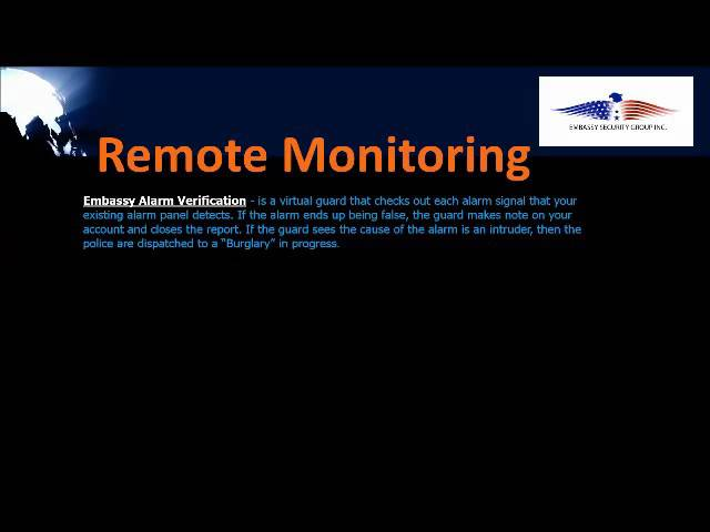 Video Analytics and Remote Monitoring Services
