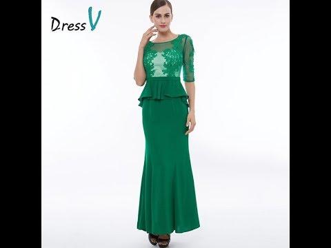 Half Sleeve Evening Dress 2018 Ruffles Chiffon Mother of the Bride Dresses  Navy Blue Long Dress. f47a51c7308a