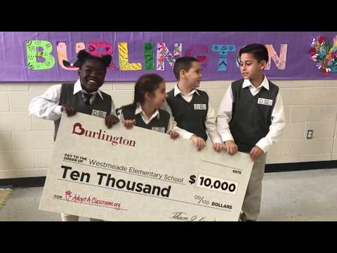 Burlington Donates $10,000 to Westmeade Elementary School