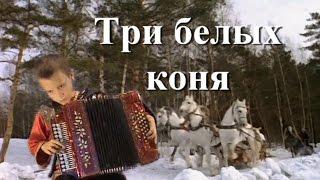 Три белых коня ♫ Песня на гармони ♫ Children Playing The Accordion