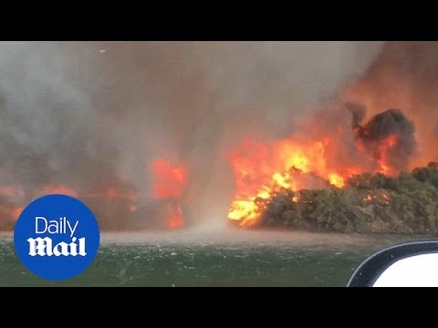 Video Shows 'firenado' Turns Into A Giant Water Spout