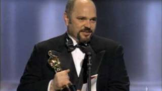 """Anthony Minghella Winning An Oscar® For """"The English Patient"""""""