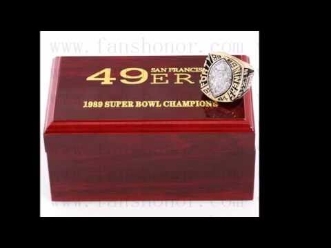Custom NFL 1989 Super Bowl XXIV San Francisco 49ers Championship Ring