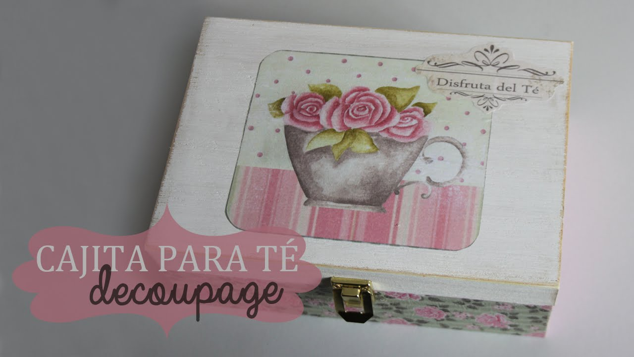 Decorar una caja de t con decoupage youtube for Donde venden murales para pared