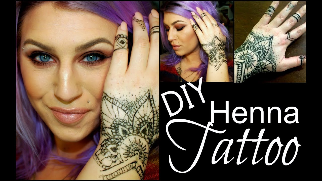 Diy Henna Tattoo Ink Without Henna Powder: DIY: Henna Tattoo Tutorial