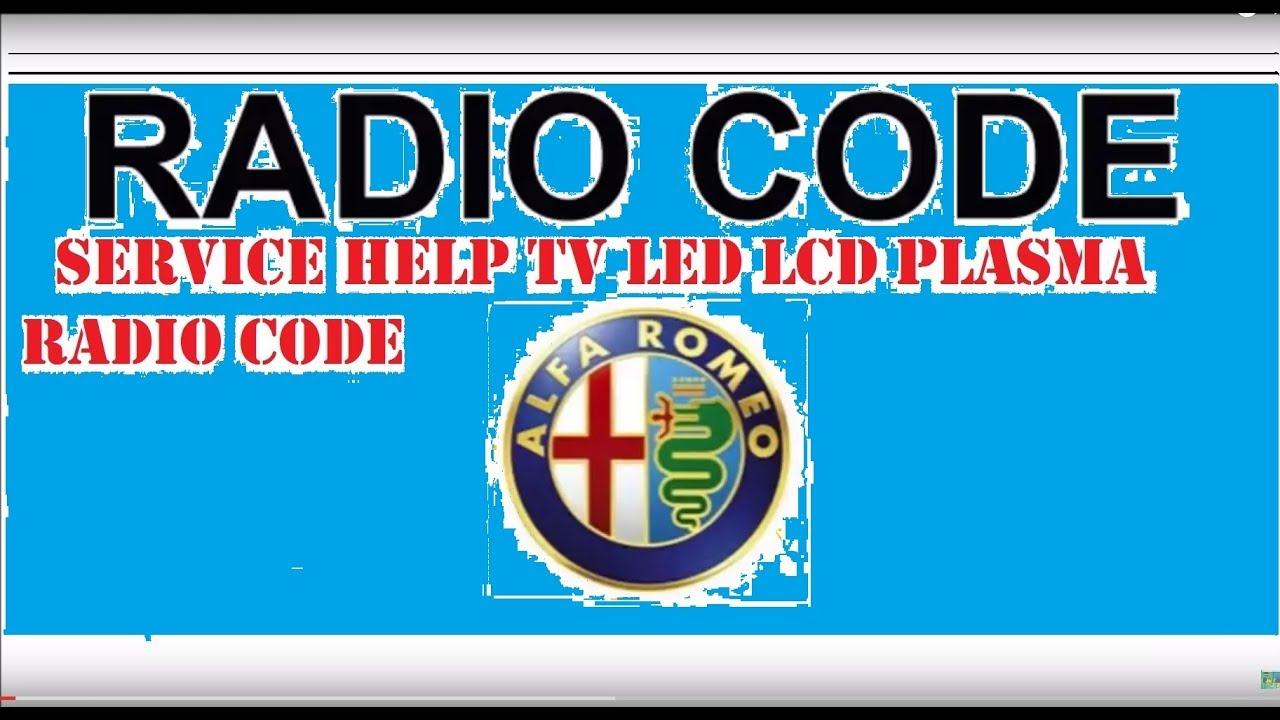 calculator code free radio alfa romeo [ 1280 x 720 Pixel ]