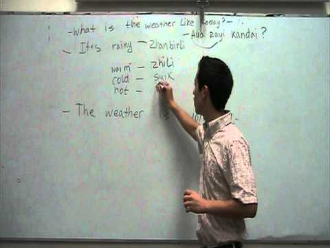 Kazakh lessons 3 (weather)
