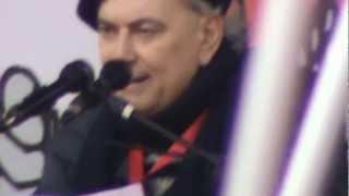 Stefano Tassinari, intervento a un comizio della FIOM, Piazza Maggiore, Bologna, 26 gennaio 2011