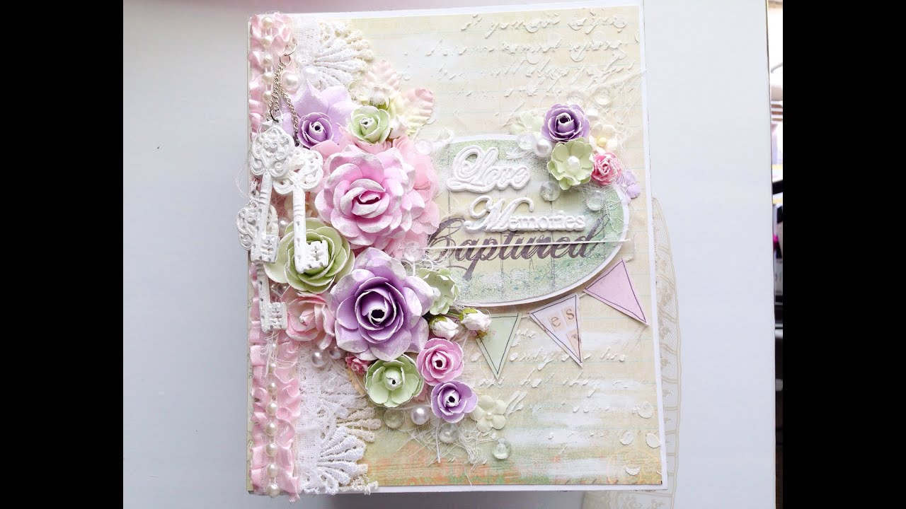 How to scrapbook wedding album -  Wedding Mini Album Lavish Laces Gdt Youtube