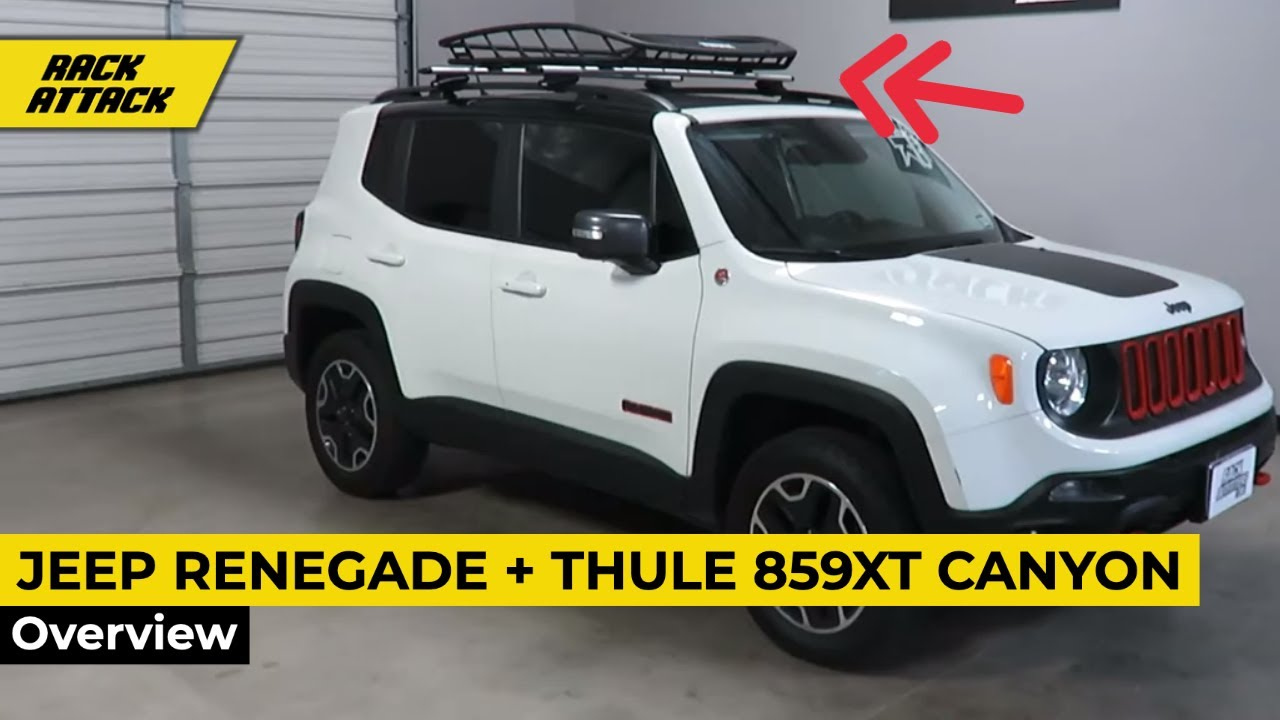 Jeep Renegade Roof >> Jeep Renegade with Thule 859XT Canyon XT Roof Cargo Basket - YouTube