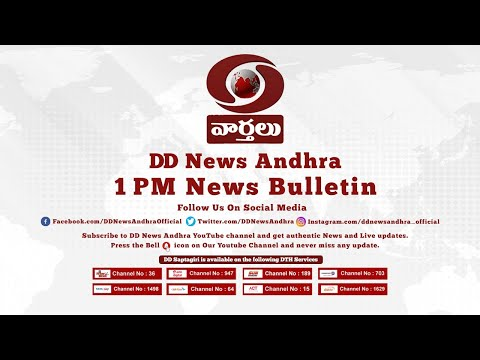 ???? DD News Andhra 1 PM Live News Bulletin 03-12-2019
