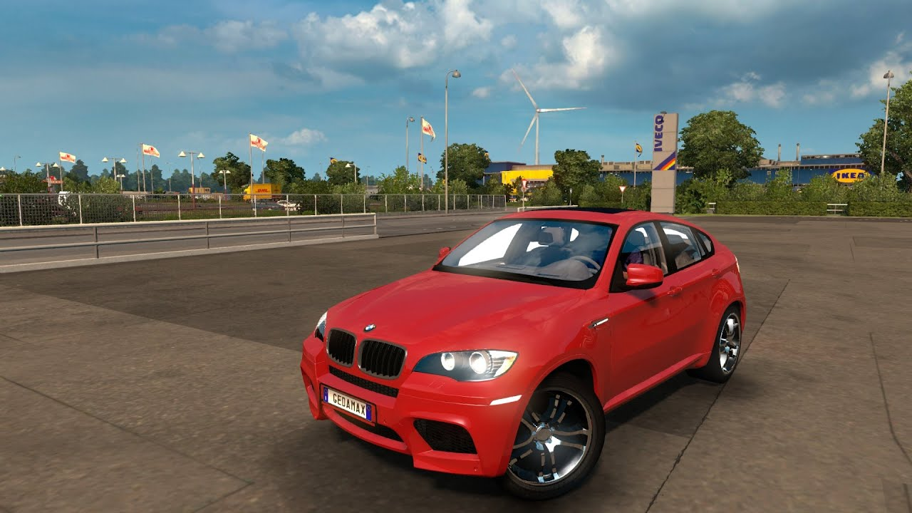 Mod Carro Bmw X6 Euro Truck Simulator 2 Youtube