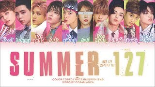 Korean: music.naver, rom: ccl, eng: pop!gasa, all rights administered by sm ent., ............................................................................., • artist: nct 127, song: summer ...