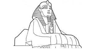 How to Draw the Sphinx / Как нарисовать Сфинкса