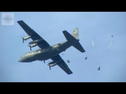 Raining Paratroopers! US Army Special Troops Airborne Ops