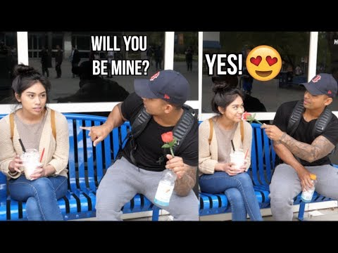 Asking girls to be my VALENTINE.... (CSUF)