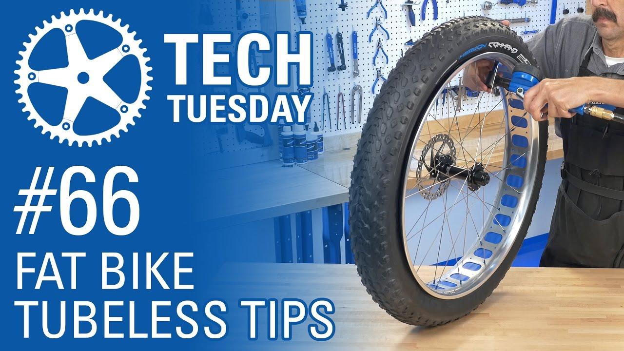 Fat Bike Tubeless Tips - Tech Tuesday #66 - YouTube