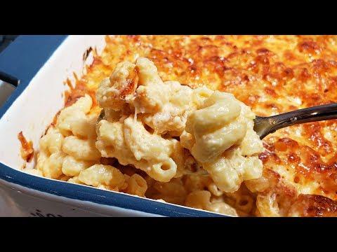 CREAMY BAKED MAC AND CHEESE RECIPE | 4 Cheese Mac N Cheese Recipe