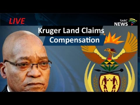 Compensation for Kruger Land Claims: 21 May 2016