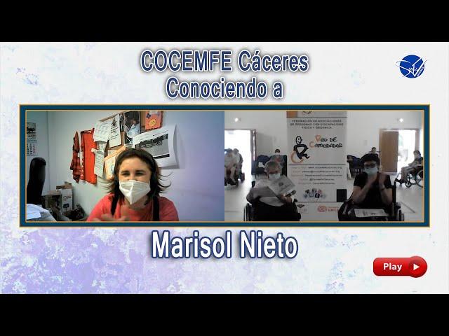 COCEMFE Cáceres. Conociendo a Marisol Nieto