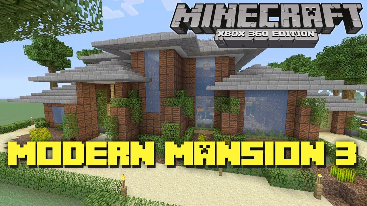 Minecraft xbox 360 jukebox mansion house tours of for Modern house 360