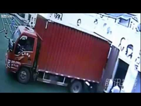 Man Crushed Onto Wall During Truck Reversal