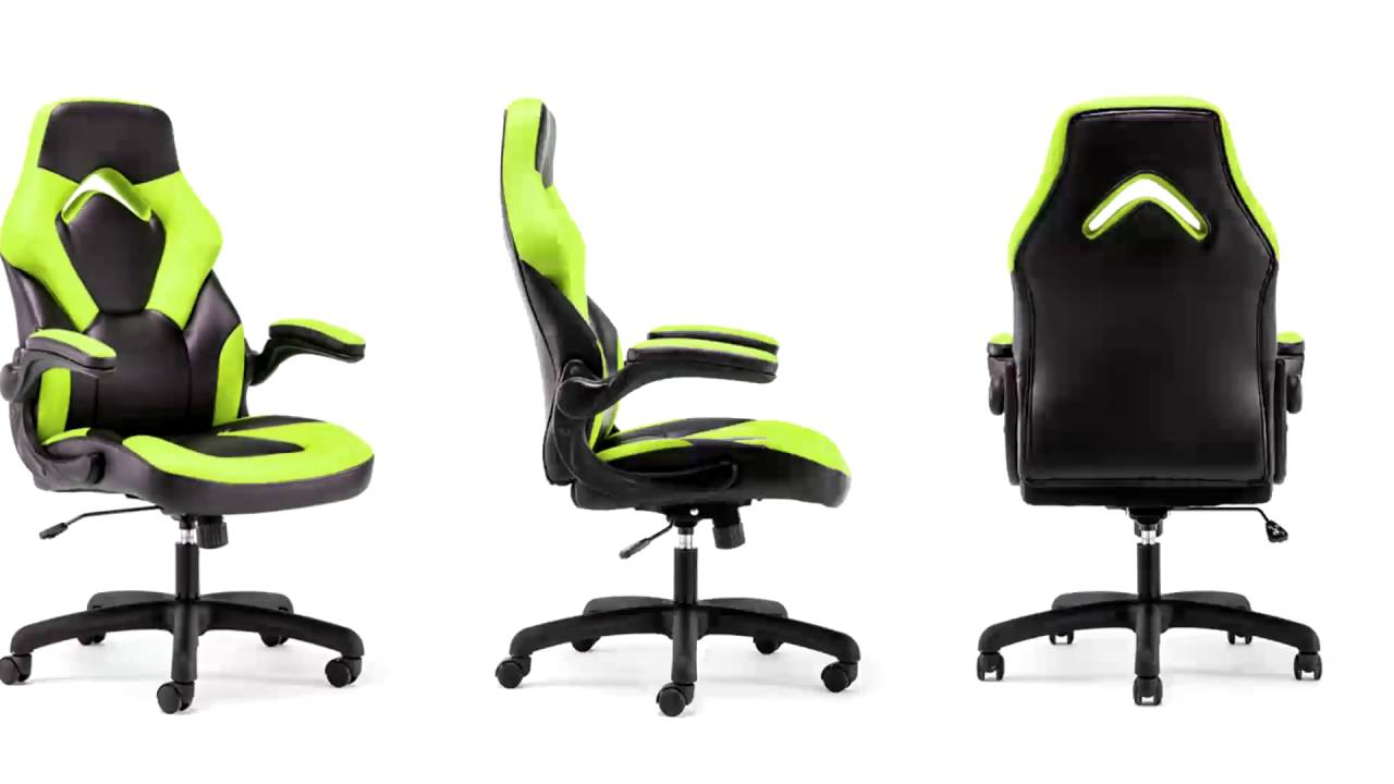 Charmant ESS 3085 Essentials By OFM Racing Style Leather Gaming Chair