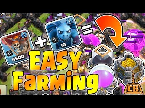 EASY FARMING! - Drop Loons Gain Loot! NO HOUNDS NEEDED! - Clash of Clans - DE Farming