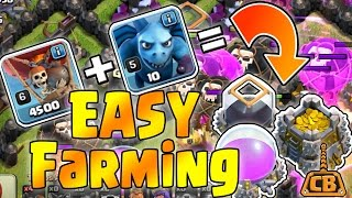 EASY FARMING! - Drop Loons Gain Loot! NO HOUNDS NEEDED! - Clash of Clans - DE Farming
