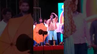 Bithiri sathi singing song in NRCM