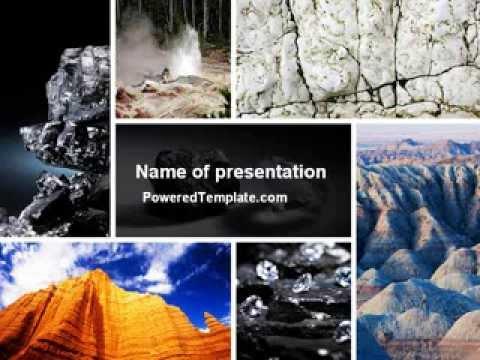 Mineral powerpoint template by poweredtemplate youtube toneelgroepblik Choice Image