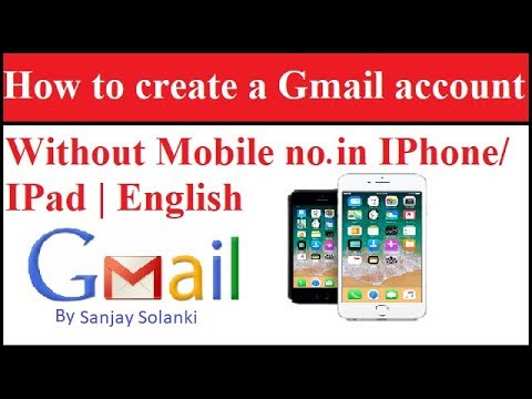 How to create a Gmail account without Mobile no in IPhone/IPad | English