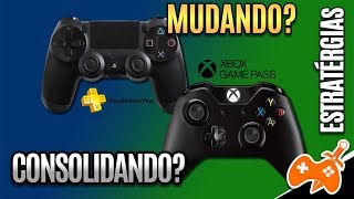 XBOX GAME PASS VS PLAYSTATION PLUS - Microsoft Consolidando e Sony Modificando seus SERVIÇOS?