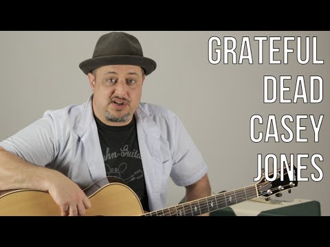 Grateful Dead - Casey Jones - How to Play on Guitar - Lesson, Tutorial Jerry Garcia