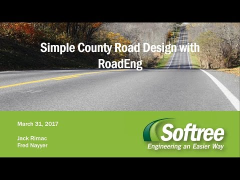 Simple County Road Design with RoadEng