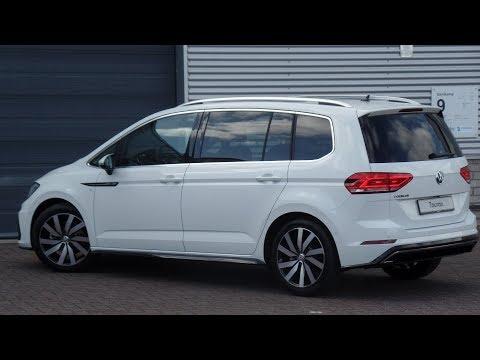 Volkswagen NEW Touran 2018 R-Line Pure White 18 inch Marseille walk around & Inside detail