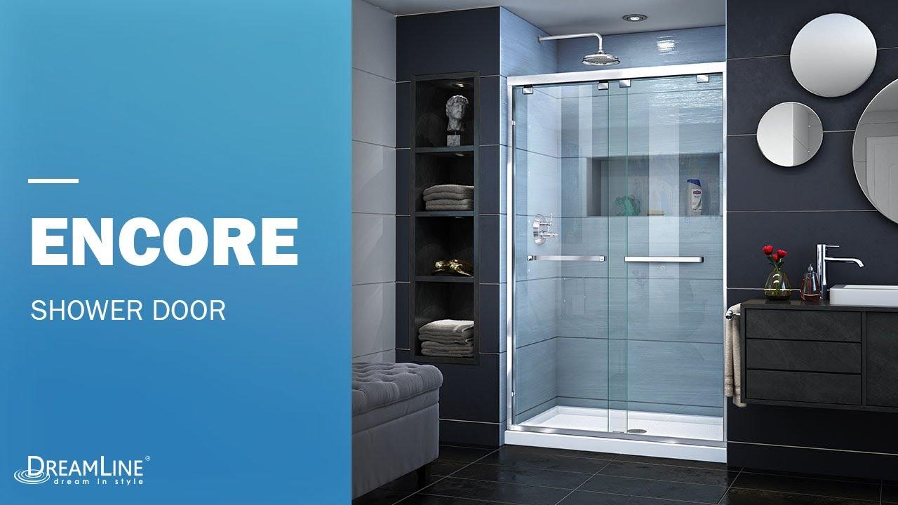DreamLine Encore 48 Inch Shower Door | Sliding Opening - YouTube