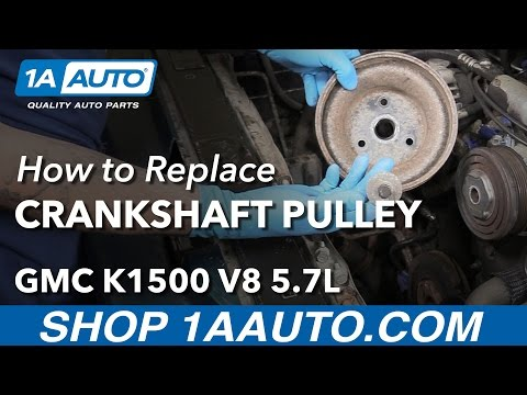How to Install Replace Crankshaft Pulley 1996 5.7L V8 GMC Sierra K1500