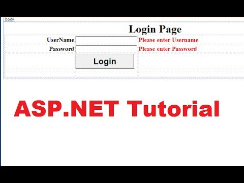ASP.NET Tutorial 6- Create a Login website - Login page & Validating User and Password in database