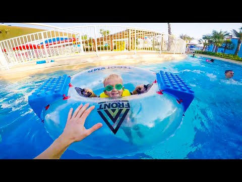 Леголенд Аквапарк Дубай Legoland Aquapark Семейный отдых с детьми Видео для детей
