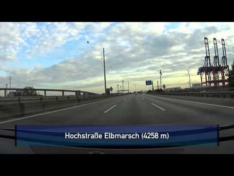 Autobahn A7: Hamburg (Elbtunnel + Hochstraße Elbmarsch)