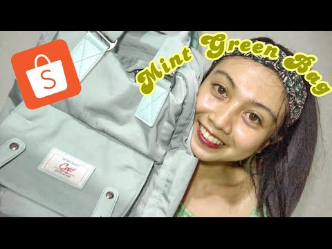 cosé-bag-mint-green-review-on-shopee-haul-2020⛧⌒。: