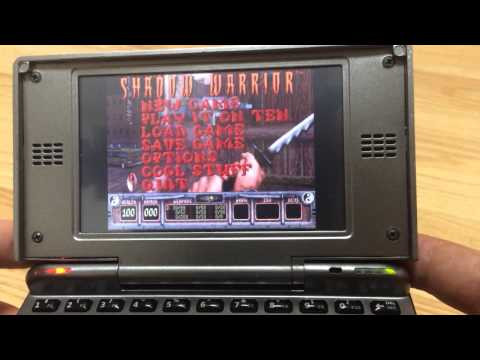 Open Pandora console playing DOS / old school games