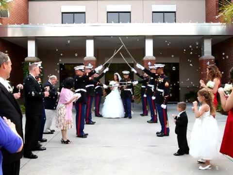 Marine Corps Wedding Sword Ceremony   YouTube