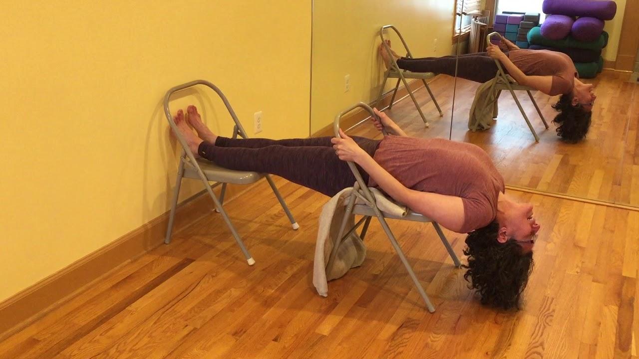 Viparita Dandasana On Chair