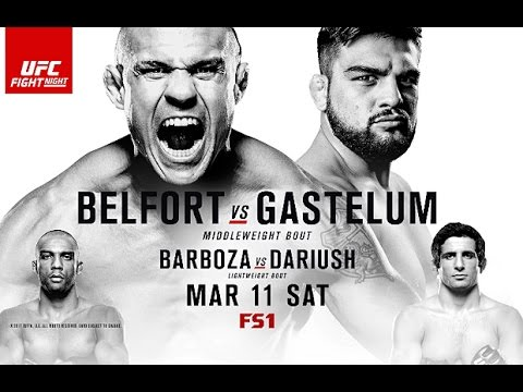 UFC Fight Night 106 Belfort v Gastelum Fight Predictions
