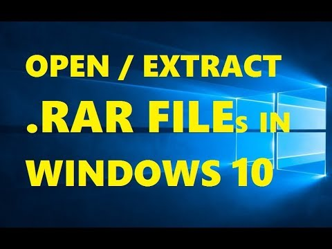 How To Open RAR File in Windows 10 Free | Extract RAR Files | Easily &  Quick Way